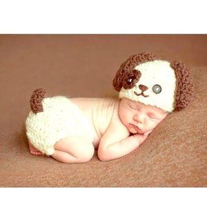 Other - Newborn Crocheted Dog Photo Prop Costume